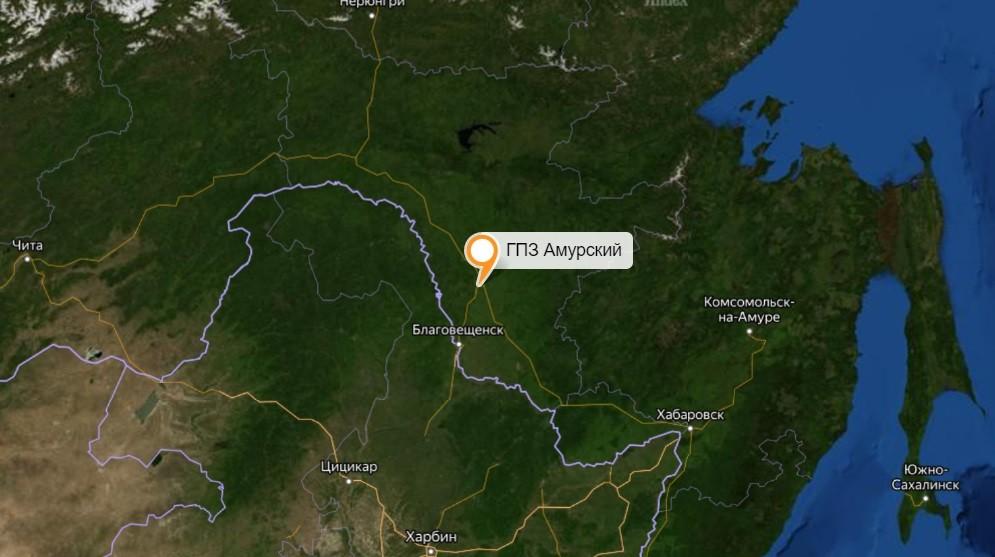 ГПЗ Амурский на карте