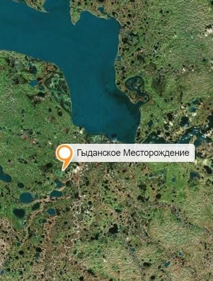 гыданское месторождение на карте