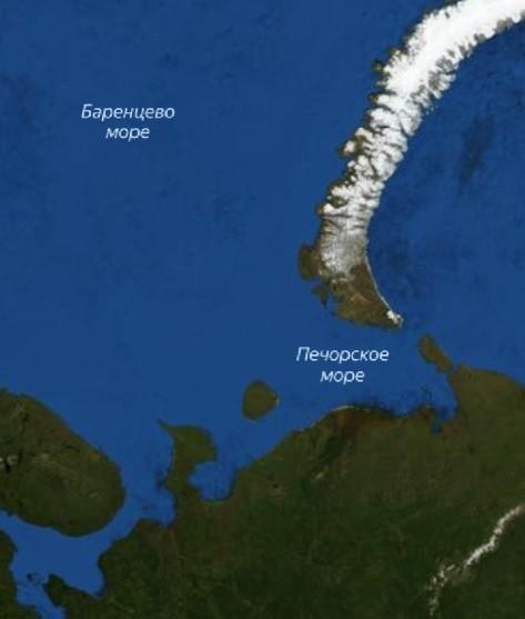 Северный морской путь на карте
