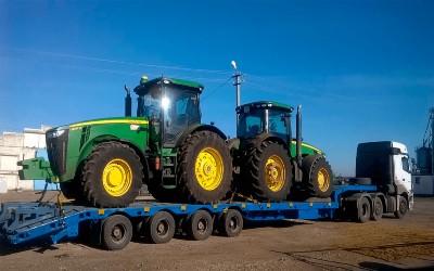 тракторы на трале