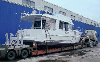 яхта на трале