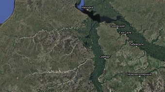 перевозки по зимникам на карте с Нового Уренгоя